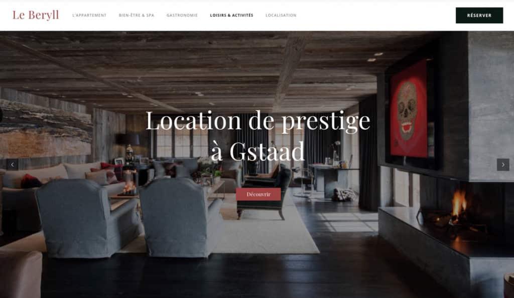 Le Beryll - Site internet