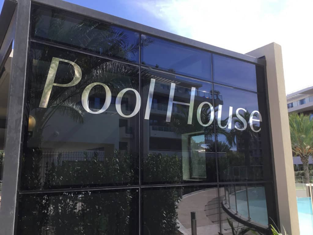 Parc du Cap - Signalétique - Pool House